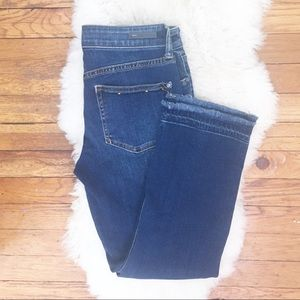 Pilcro Anthropologie Script cropped jeans